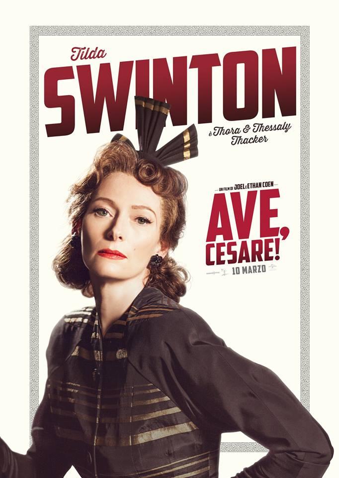 Ave Cesare Tilda Swinton Teaser Character Poster Italia 01
